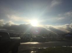 Sun Trying to burn through